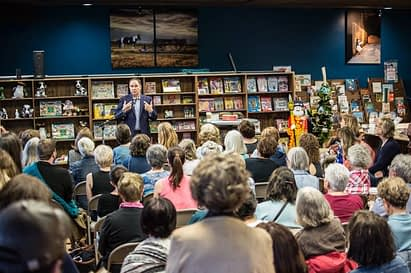 An author gives a reading at This House of Books cooperative in Downtown Billings